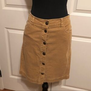 Tommy Hilfiger Corduroy Button-front Pencil Skirt
